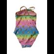 104-es kék-rózsaszín arany pöttyös fürdőruha