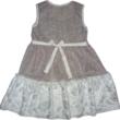 116-os csillogó alkalmi ruha fehér szőrme aljjal - ÚJ