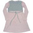 146-os szürke-rózsaszín apró szegecses ruha - ÚJ