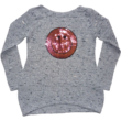 176-os szürke Smile-s kötött pulóver, sállal - ÚJ