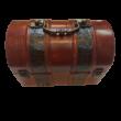 Antik hatású díszes fa ládika, kicsi - ÚJ (hibás)