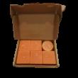 6 db narancssárga illatgyertya, narancs, 5 cm magas - ÚJ