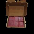 6 db bordó illatgyertya, cseresznye illatú, 5 cm magas - ÚJ