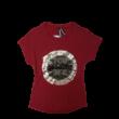 Női XS-es átfordítható flitteres bordó póló - Desigual - ÚJ