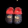 28-29-es kék-piros szőrmével bélelt gumiklumpa, habpapucs - Paw Patrol - Mancs Őrjárat - ÚJ