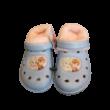 30-31-es kék-rózsaszín szőrmével bélelt gumiklumpa, habpapucs - Frozen, Jégvarázs - ÚJ