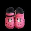 28-29-es pink szőrmével bélelt gumiklumpa, habpapucs - Minnie Egér - ÚJ