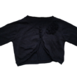 122-es fekete csillogó kötött boleró - St. Bernard