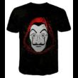 Férfi XL-es fekete póló - Money Heist - A nagy pénzrablás - La casa de papel - ÚJ