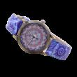 Mandalás analóg óra, kék - ÚJ