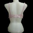 85C rózsaszín csipkés merevítős melltartó