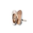 30-as fehér balerinacipő - Zara