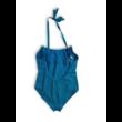 164-170-es kék nyakba kötős fürdőruha