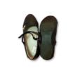 35-ös fekete lakk, pántos alkalmi cipő