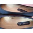 40-es kék bőr balerinacipő - Va Bene - ÚJ
