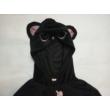 122-128-as fekete cicás plüss háziruha kislánynak