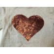 122-es szürke szivecskés átfordítható flitteres pulóver - H&M