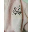 8-9 éesre rózsaszín szőrmés delfines köntös