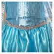 116-122-es kék jelmez, hercegnőruha kitűzővel - Frozen, Jégvarázs - ÚJ