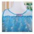 128-134-es kék jelmez, hercegnőruha kitűzővel - Frozen, Jégvarázs - ÚJ
