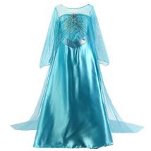 9-10 évere kék hercegnő jelmezruha - Frozen, Jégvarázs - ÚJ