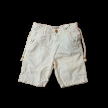128-as törtfehér lenes fiú térdnadrág - Zara