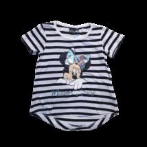 104-es fekete-fehér csíkos póló - Minnie Egér - ÚJ