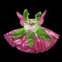 4-5 évesre pink-zöld abroncsos jelmezruha, tündérruha