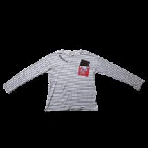 152-es fehér-fekete csíkos zsebes lány pamutfelső - Zara