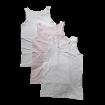 164-es fehér-rózsaszín trikók, 3 db egyben