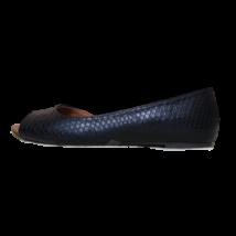 36-os fekete, elöl nyitott női cipő