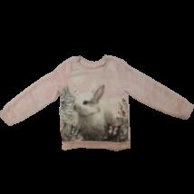 110-116-os rózsaszín nyuszis szőrmés pulóver - H&M