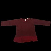140-es szürke-bordó csíkos tunika jellegű pamutfelső - Zara