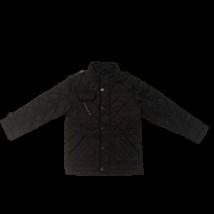 122-128-as fekete steppelt fiú átmeneti kabát - George