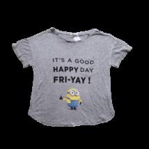 Női S-es szürke feliratos póló - Minyonok