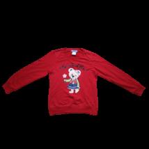 164-es piros macis pulóver