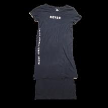Női XS-es fekete feliratos ruha - Bershka