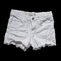 122-es fehér szaggatott lány farmer rövidnadrág - Zara