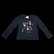 134-es fekete flamingós pamutfelső - C&A