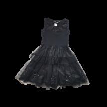 140-146-os fekete tüllös alkalmi ruha