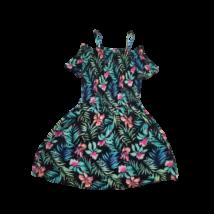 158-164-es feker virágos pántos ruha