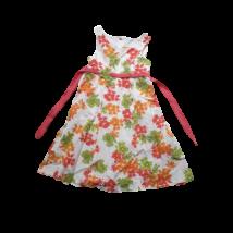 128-as fehér alapon virágos ujjatlan ruha - Lilien