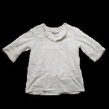 116-os fehér hímzett feles ujjú blúz - H&M