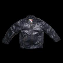 122-es fekete fiú bőrhatású kabát - Next