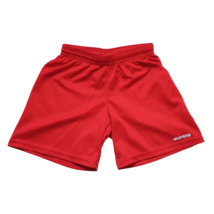 116-os piros fiú focis short, sportos rövidnadrág - Kipsta