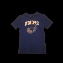116-os kék feliratos, kosárlabdás póló - Adidas
