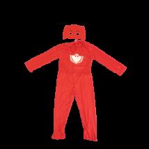 7-8 évesre piros bagoly jelmez szárnnyal (M) - Pizsihősök - PJ Masks - ÚJ