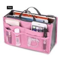 Sokrekeszes praktikus kozmetikai táska, rózsaszín - ÚJ