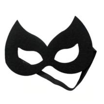 Fekete filc maszk, macska, cica, vagy szuperhős - ÚJ