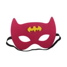 Pink-sárga filc maszk - Batman - Batgirl - ÚJ